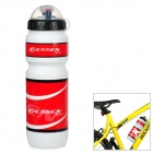 ESSEN Outdoor Plastic Water Bottle - Red + White + Black (600ml)