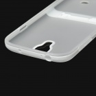 Protective Back Case w/ Stand for Samsung Galaxy S4 i9500 - White + Transparent