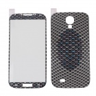 ITOP UF-602B Intensive Oval Style Decorative Screen + Back Skin Protector for Samsung Galaxy S4 i900