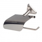 TengYue Stainless Steel Toilet Roll Paper Base Holder - Silver