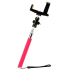 MONOPOD Retractable Hand Held Self-Timer Mount Holder for Cell Phones / Cameras - Deep Pink