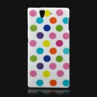 Protective Polka Dots Pattern Back Case for Sony Xperia Z/L36H/C6603 - Mulitcolored