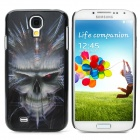 Protective 3D Skull Head Pattern Back Case for Samsung Galaxy S4 i9500 - Black + Grey