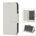 SUYOU Protective PU Leather Flip Open Case for Samsung i9500 - Beige + Black