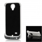 Rechargeable 4800mAh Emergency Power Battery Case for Samsung Galaxy S4 / i9500 - White + Black