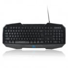 Rhorse 7350 Professional USB 2.0 104-Key Gaming Keyboard w/ Blue Backlight - Black