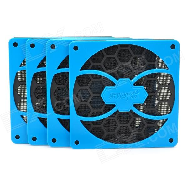 Game Demon Fan Filter Dust Guard for PC Computer - Blue + Black (4 PCS) dustproof 120mm 1pcs 2pcs 5pcs case fan dust filter guard grill protector cover plastic pc computer cooling net
