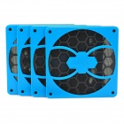 Game Demon Fan Filter Dust Guard for PC Computer - Blue + Black (4 PCS)