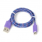 USB 2.0 to 8-Pin Lightning Sync Data / Charging Nylon Cable for iPhone 5 / iPad 4 - Purple
