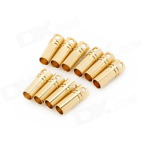 DIY 3.5mm Gold Plated Banana Jack Connectors for Fixed Wing R/C Airplane - Yellow (10 PCS)Repair Parts and Tools<br>Model350BForm  ColorYellowMaterialHighQuantity10Compatible ModelsFixedPacking List10 x Banana jacks<br>
