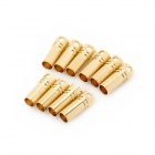DIY 3.5mm Gold Plated Banana Jack Connectors for Fixed Wing R/C Airplane - Yellow (10 PCS)