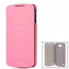 KALAIDENG Enland Series Fashionable Protective PU Leather Case for Lenovo S920 - Deep Pink