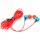 LLe Stylish Aluminum Alloy In-Ear Stereo Earphones - Blue + Red (3.5mm Plug / 135cm)