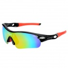 NBIKE 9311 Cool Cycling Riding UV Protection Polarized Sunglasses - Black + Red