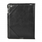 IP3-232 Protective Folding Genuine Leather Case for Ipad 2 / 3 / 4 - Black