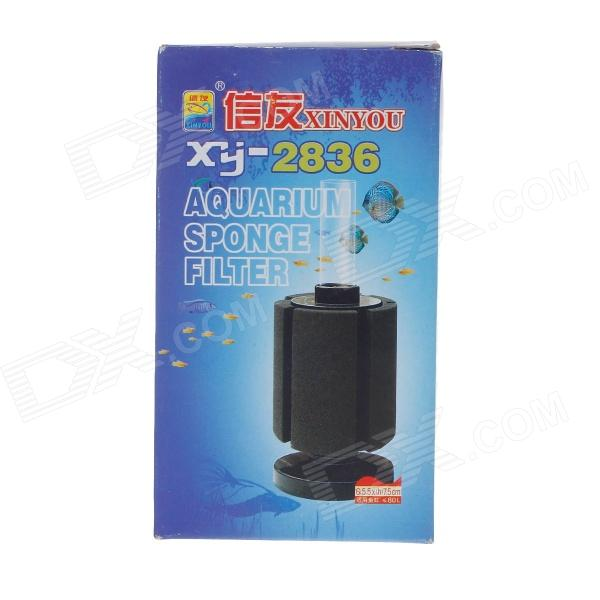 XINYOU XY-2836 Aquarium Sponge Filter Suitable for Fish Tank Less Than 80L - Black + White