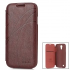 KALAIDENG Stylish Ribbon Pattern Protective PU Leather Case for Samsung Glaxing S4 i9500 - Claret