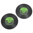 Retro Vinyl Record Style Round Shaped Silicone Heat Resistant Pad Mat Coaster (2 PCS)