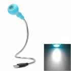 USB Flexible Touch Control LED Light for Notebook Laptop - Silver + Blue
