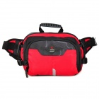 Fashion Dapai Reflective Nylon Waist Bag / Shoulder Bag - Red + Black