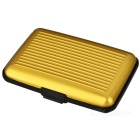 Stylish Water Resistant Aluminum + Plastic Storage Case for Credit Card / Name Card - Golden
