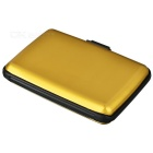 Aluminum + Plastic Storage Case for Credit Card / Name Card - Golden