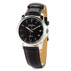 Onlyou 8792 Fashion Round Dial PU Leather Band Quartz Wrist Watch for Men - Black (1 x 626)
