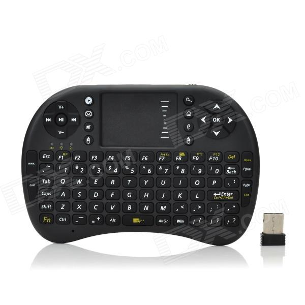 2.4GHz Wireless 92-Key Keyboard Mouse Combo - Black sound activated 433 92mhz 1 to 1 wireless key finder blue black 1 x cr2032