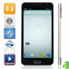 "T94 MTK6589 Quad-Core Android 4.2.1 WCDMA Bar Phone w/ 5.0"" HD, Wi-Fi and GPS - Black + Silver"