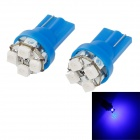HY T10 0.8W 80lm 490nm 8-SMD 3020 LED Blue Light Рулевое Лампы (2 шт)
