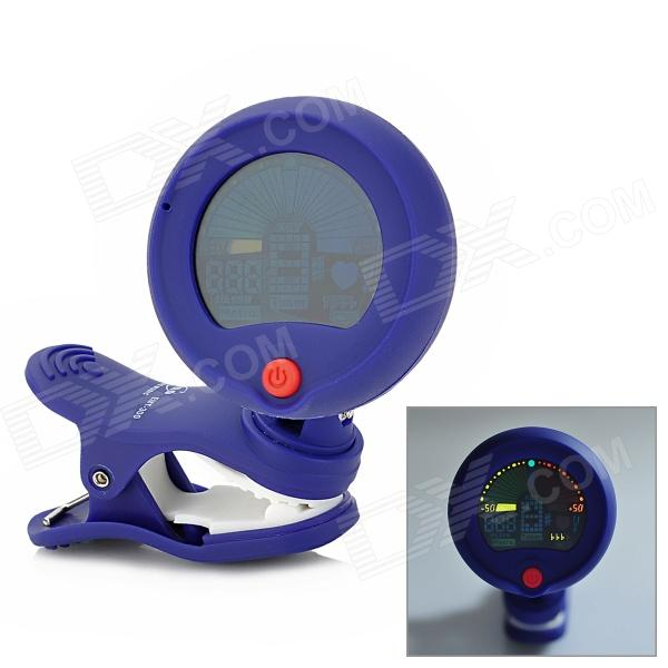 ENO EMT-300 1.0 Full Colored Display Clip-On Tuner for Guitar / Violin / Bass - Blue (1 x CR2032) eleganzza w14100284878