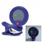 "ENO EMT-300 1.0"" Full Colored Display Clip-On Tuner for Guitar / Violin / Bass - Blue (1 x CR2032)"