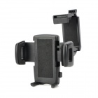 Universal 360 Degree Rotatable Cellphone Car Mount Holder w/ Rearview Mirror Clamp - Black