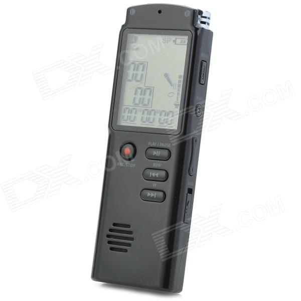 1.6 Screen Digital Voice Recorder MP3 Player - Black (8 GB) high bit rate 1536kbps audio recorder 60m voice recorder 8g time stamp voice activated password digital recorder ape flac player