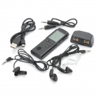 "1.6"" Screen Digital Voice Recorder MP3 Player - Black (8 GB)"