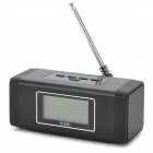"NIZHI TT-301 1.9"" LCD Bluetooth v2.0 2-Channel Speaker w/ FM / TF / Hands-Free - Black"