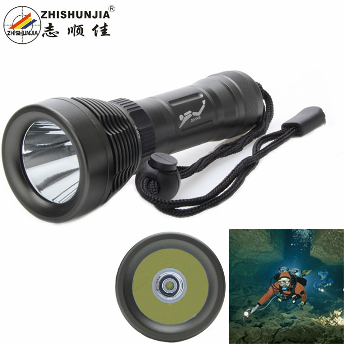 500lm 8-Mode White Diving Flashlight w/ Cree XM-L U2 - Grey (1 x 18650 / 26650) 950lm 3 mode white bicycle headlamp w cree xm l t6 black silver 2 x 18650