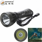 Cree XM-L U2 500lm 8-Mode White Diving Flashlight - Grey (1 x 18650 / 26650)