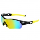 NBIKE 9311 Cool Cycling Riding UV Protection Polarized Sunglasses - Black + Yellow