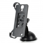Car Suction Cup Holder + Bracket for Samsung Galaxy S4 i9500 - Black