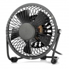"P-030 4"" AC 220V US Plug 360 Degree Rotatable 5 Blades Mini Cooling Fan - Black"