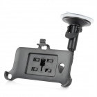 Car Mounted Suction Cup Holder + Bracket for HTC ONE / M7 - Black