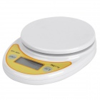 "1.7"" LED Screen 5kg x 1g Electronic Weigher / Scale / Balance for Kitchen Use - White (2 x AAA)"