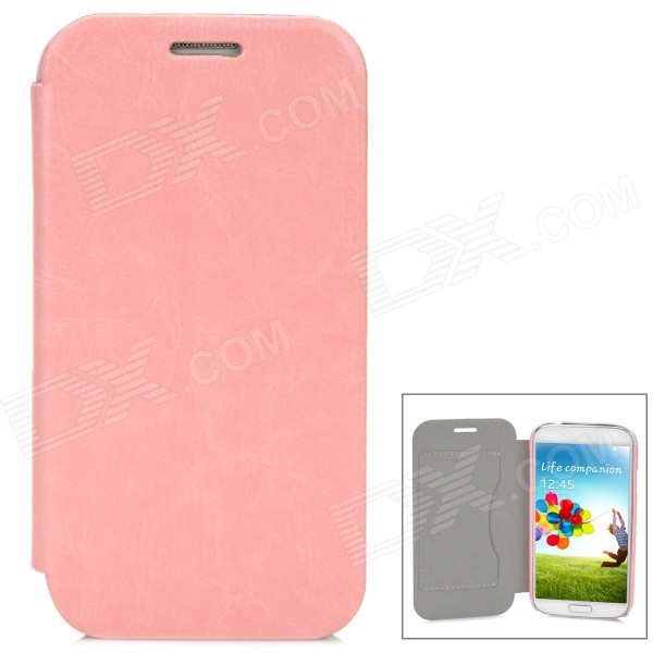 Protective Flip-Open Style PU Leather Case for Samsung i9500 w/ Card Slot - Pink protective flip open pu case w stand card slots for samsung galaxy s4 active i9295 black