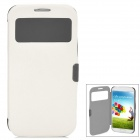 Protective Flip-Open Style PU Leather Case for Samsung Galaxy S4 i9500 - White