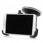 Car Mounted Suction Cup Holder + Bracket + Capacitance Stylus for Samsung Galaxy S4 i9500 - Black