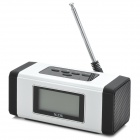 "NIZHI TT-301 1.9"" LCD Bluetooth v2.0 2-Channel Speaker w/ FM / TF / Hands-Free - Black + White"
