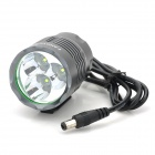 FANDYFIRE YR-01 700lm 3-Mode Branco Bike Light w / 3 x Cree XP-G R5 - Grey (4 x 18650)