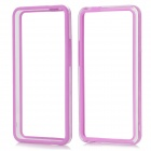 Stylish Protective Plastic Bumper Frame Case for HTC ONE / M7 - Purplr + Transparent