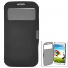 Protective Flip-Open Style PU Leather Case for Samsung Galaxy S4 i9500 - Black